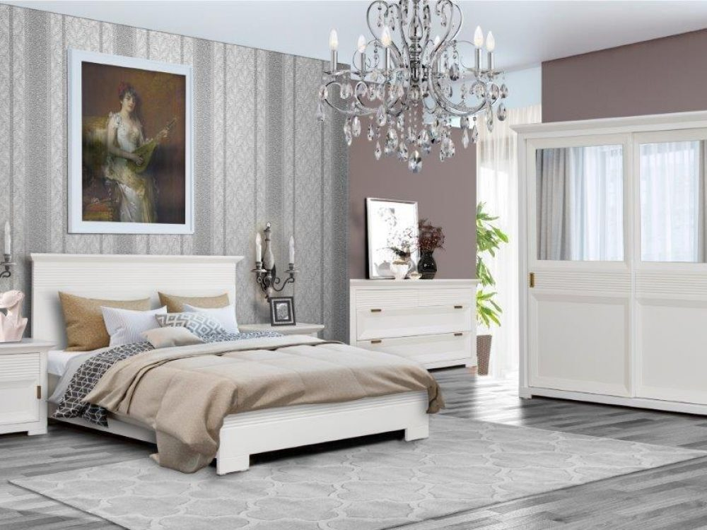 set mobilier dormitor Verona alb