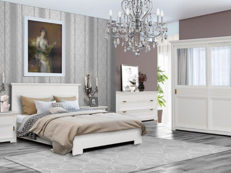 Mobila pentru dormitor Verona alb