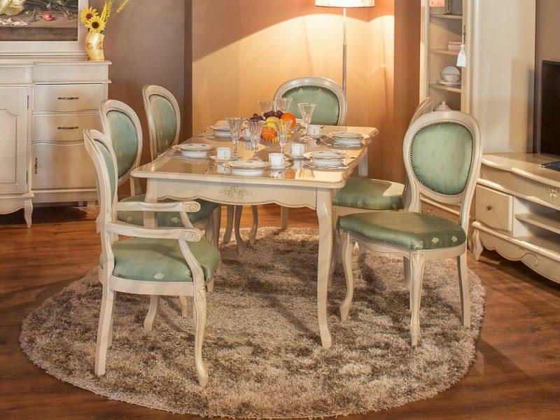 Set masa fixa cu scaune Romantik