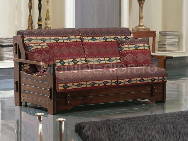 Canapea din lemn Corsica ribalta stofa TEX 1