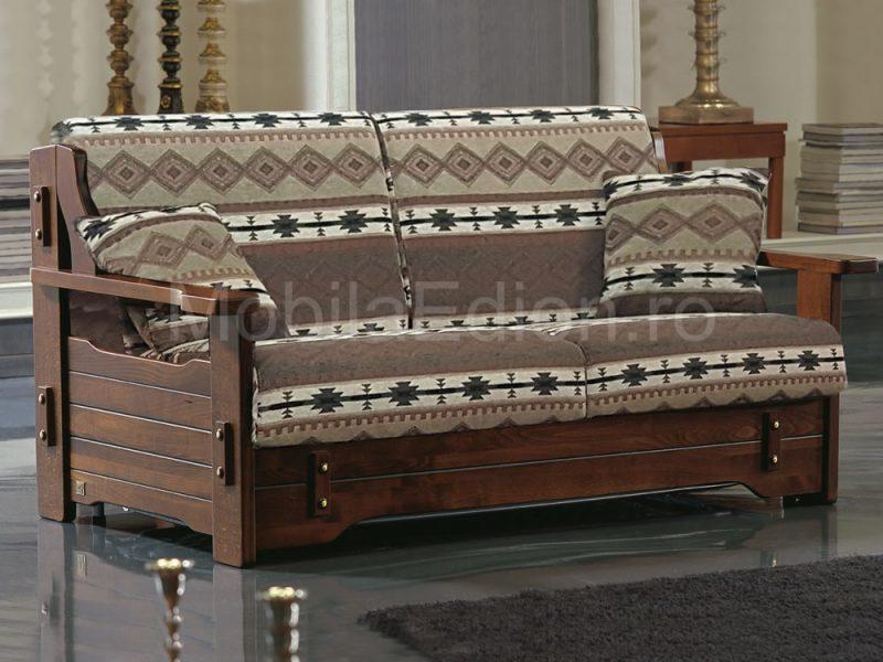 Canapea din lemn Corsica ribalta stofa