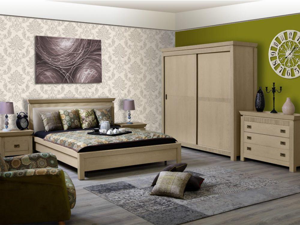dormitor Casablanca dune cu pat 160 cm