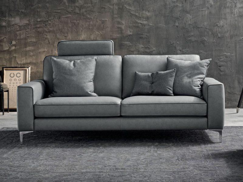Canapea din piele RUSSEL 3 locuri