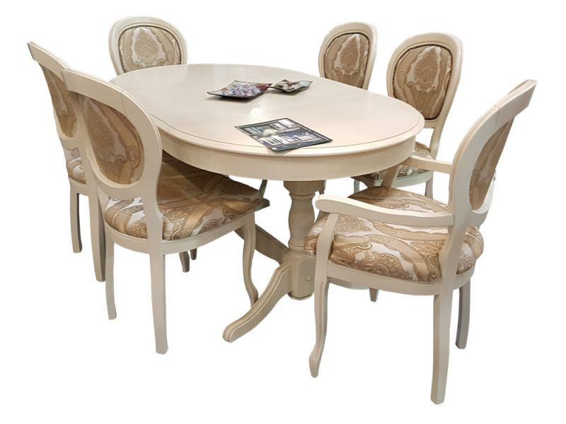 Set masa extensibila Amelie cu scaune Romantic