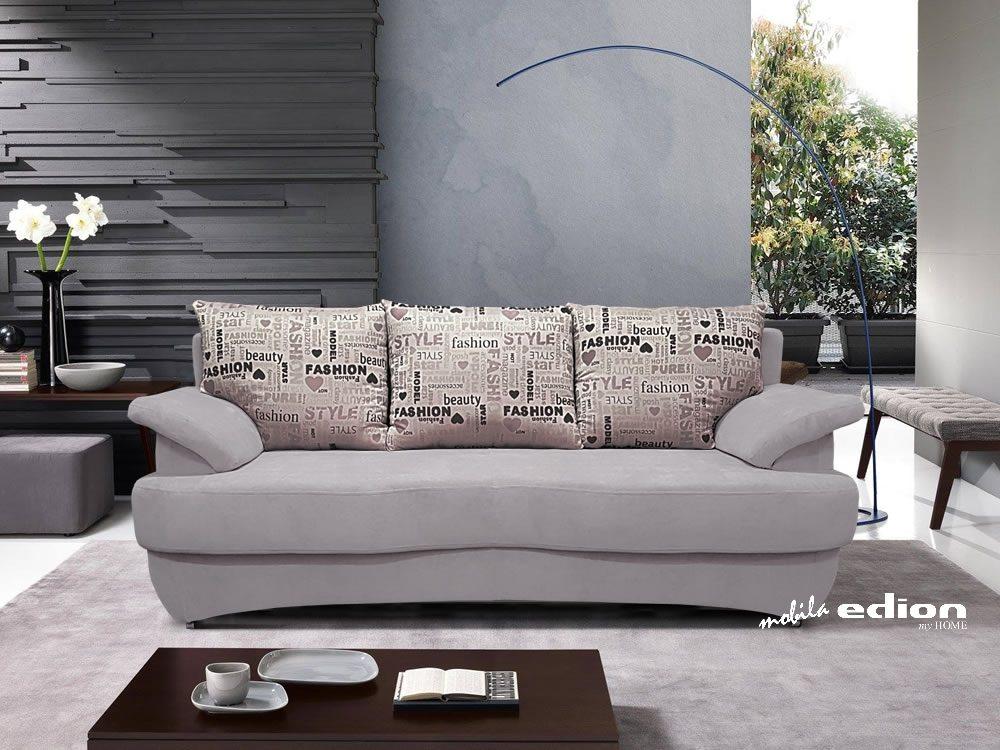 canapea 3 locuri Odessa stofa gri