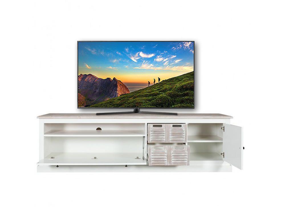 Comoda TV Cortina Alb & Miere